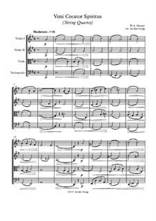Veni Creator Spiritus: para quartetos de cordas by Wolfgang Amadeus Mozart