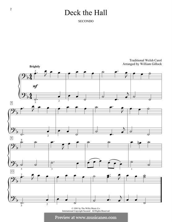 Deck the Hall, for Piano: para um único musico (Editado por H. Bulow) by folklore