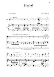 Morire: Morire by Giacomo Puccini