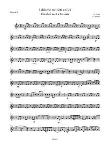 Fragments: Trinklied, für Brass Quintett – Parts by Giuseppe Verdi