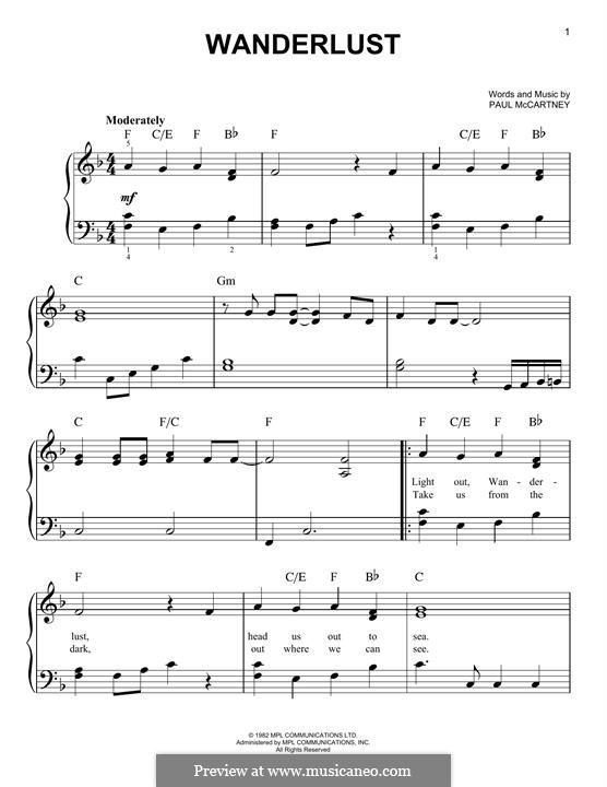Wanderlust: Para Piano by Paul McCartney