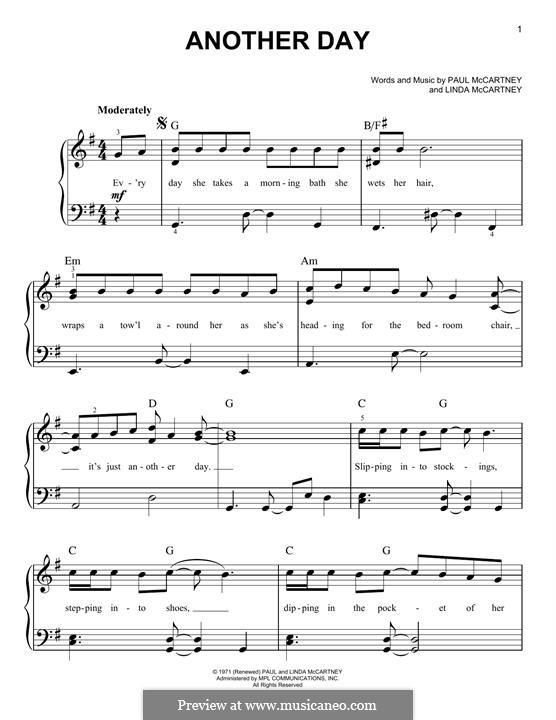 Another Day: Para Piano by Linda McCartney, Paul McCartney