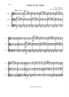 Strike it up Tabor: For 3 flutes by Thomas Weelkes