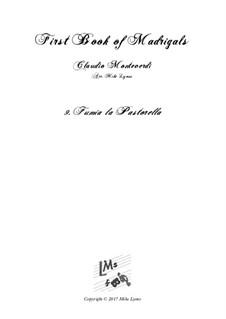 Book 1 (a cinque voci), SV 23–39: No.09 Fumia la pastorella. Arrangement for quintet instruments by Claudio Monteverdi