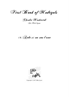 Book 1 (a cinque voci), SV 23–39: No.19 Ardo si ma non t'amo. Arrangement for quintet instruments by Claudio Monteverdi