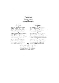 Tafellied, Op.93b: Tafellied by Johannes Brahms