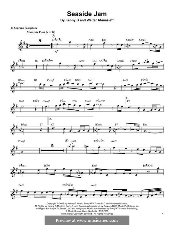 Seaside Jam: For soprano saxophone by Kenny G., Walter Afanasieff
