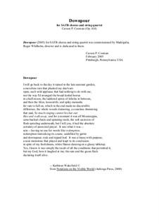 Downpour for SATB chorus and string quartet: Chorus part by Carson Cooman