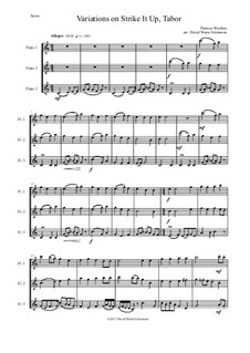 Strike it up Tabor: Variations, for 3 flutes by Thomas Weelkes