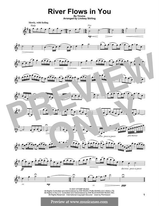 River Flows in You: para violino by Yiruma