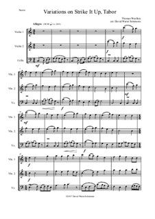 Strike it up Tabor: Variations, for 2 violins and cello by Thomas Weelkes