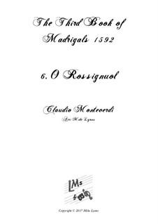 Book 3 (a cinque voci), SV 60–74: No.06 O Rossignuol. Arrangement for quintet instruments by Claudio Monteverdi