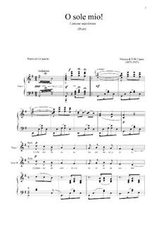 O Sole Mio: para duas vozes e piano by Eduardo di Capua