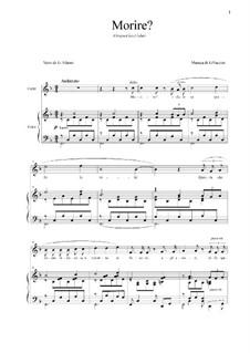 Morire: Para vocais e piano by Giacomo Puccini