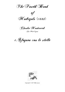 Book 4 (a cinque voci), SV 75–93: No.04 Sfogava con le stelle. Arrangement for quintet instruments by Claudio Monteverdi