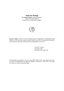 Suite for Strings: Score only by Carson Cooman