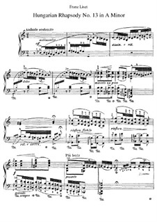 No.13 in A Minor, S.244: Para Piano by Franz Liszt