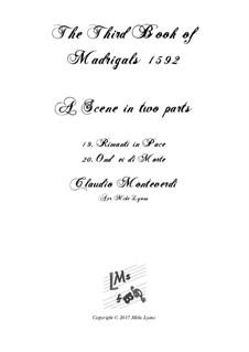 Book 3 (a cinque voci), SV 60–74: Scena 3. Arrangement for quintet instruments by Claudio Monteverdi