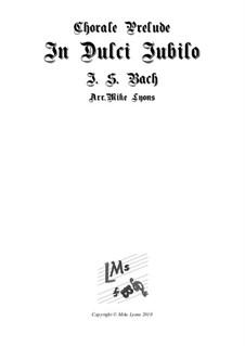 In Dulci Jubilo: Para quinteto de metais by Johann Sebastian Bach