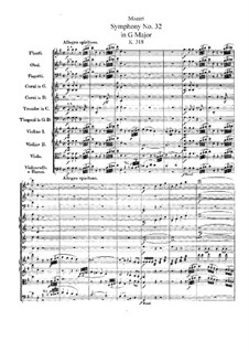 Symphony No.32 in G Major, K.318: Partitura completa by Wolfgang Amadeus Mozart