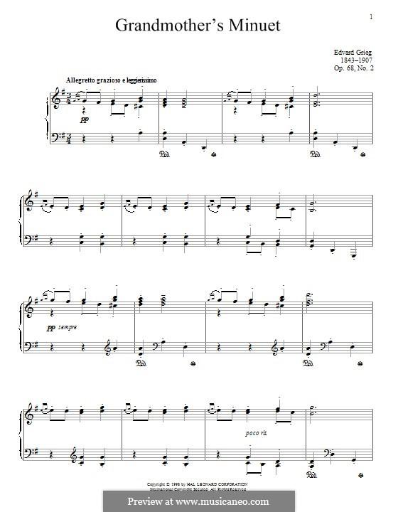 Lyric Pieces, Op.68: No.2 Grandmother's Minuet by Edvard Grieg