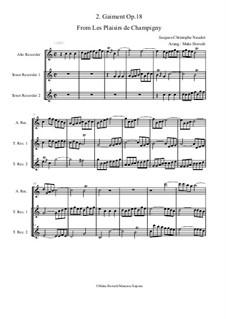 Les Plaisirs de Champigny, Op.18: No.2 Gaiment (trio recorder ATT) by Jacques-Christophe Naudot