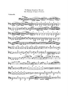 Overture: parte violoncelo by Wolfgang Amadeus Mozart