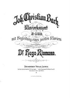 Concerto for Harpsichord and Orchestra in E Major, W C71: dois pianos de quatro mãos by Johann Christian Bach