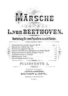 Marches for Two Pianos Eight Hands: piano parte I by Ludwig van Beethoven