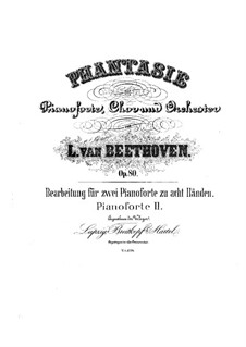 Fantasia in C Minor, Op.80: para dois pianos para oito mãos - piano parte II by Ludwig van Beethoven
