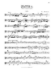 String Quartet No.4 in E Flat Major, Op.16b: parte viola by Ludwig van Beethoven