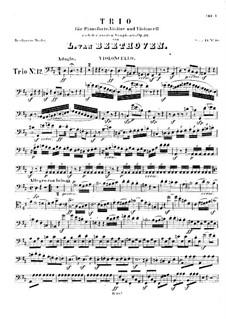 Symphony No.2, Op.36: versão para trio de piano - violoncelo parte by Ludwig van Beethoven