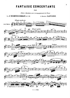 Concert Fantasia for Flute, Oboe and Piano, Op.36: parte Oboe by Jules Demersseman
