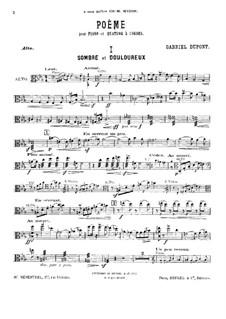 Poem for Piano Quintet: parte viola by Gabriel Dupont
