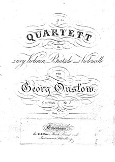 Three String Quartets No.4-6, Op.8: set completo by Georges Onslow