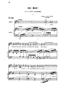 Three Songs, Op.8: No.3 Ici-bas, for medium voice by Gabriel Fauré