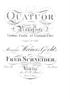 Piano Quartet in C Minor, Op.36: Piano Quartet in C Minor by Friedrich Schneider