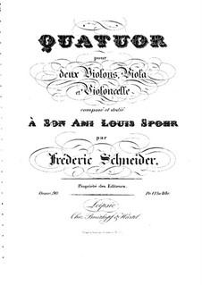 String Quartet in G Minor, Op.90: quarteto de cordas em G menor by Friedrich Schneider