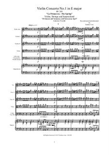 Violin Concerto No.1 in E Major 'La primavera', RV 269: Full socre, parts by Antonio Vivaldi