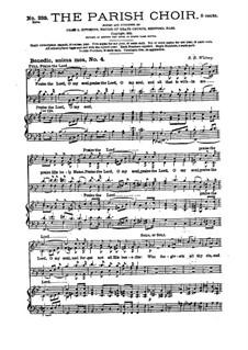 Benedic, anima mea No.4: Benedic, anima mea No.4 by Samuel Brenton Whitney