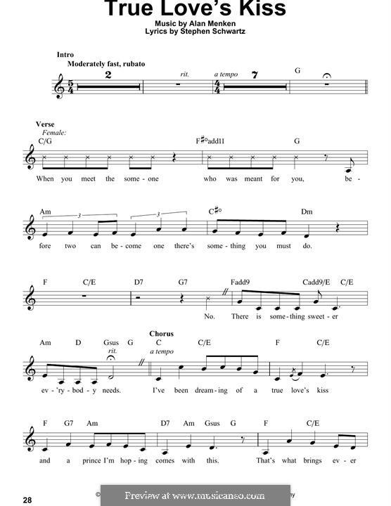 True Love's Kiss: melodia by Alan Menken
