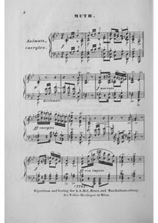 No.22 Mut (Courage): arranjo para piano by Franz Schubert