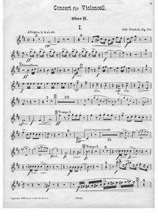 Concerto for Cello and Orchestra in B Minor, B.191 Op.104: Oboe parte II by Antonín Dvořák