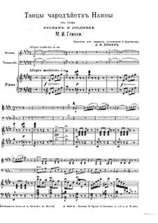 Naina's Magic Dancer: para trio de pianos by Mikhail Glinka