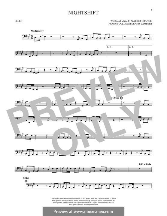 Nightshift (The Commodores): para violoncelo by Dennis Lambert, Francine Golde, Walter Orange