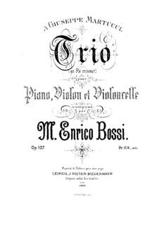 Piano Trio in D Minor, Op.107: Partitura completa by Marco Enrico Bossi