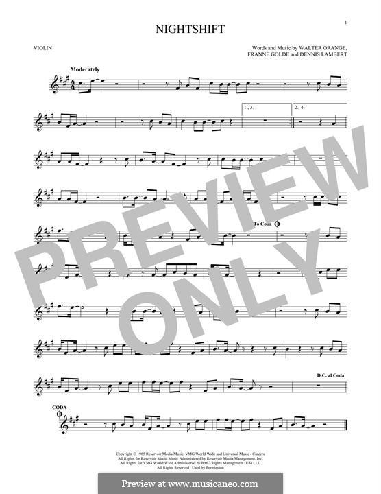 Nightshift (The Commodores): para violino by Dennis Lambert, Francine Golde, Walter Orange