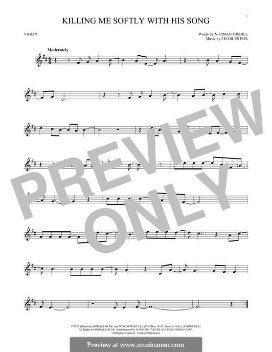 Killing Me Softly with His Song: para viola by Charles Fox