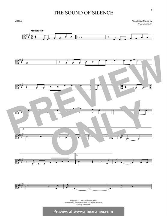 The Sound of Silence (Simon & Garfunkel): para viola by Paul Simon