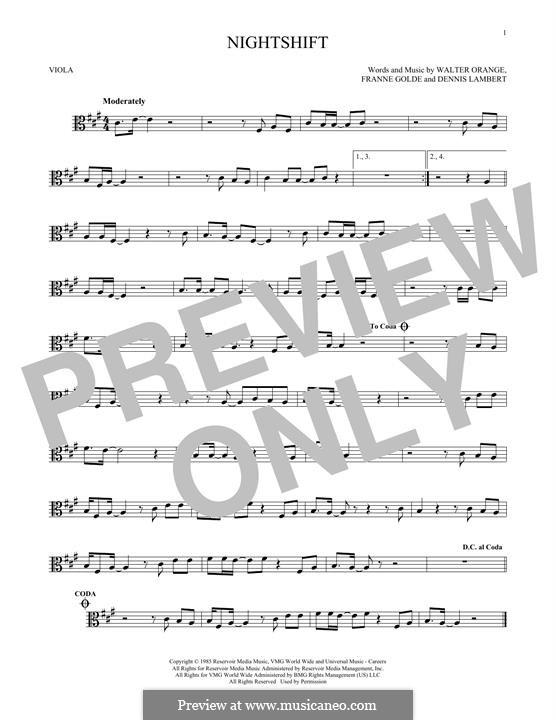 Nightshift (The Commodores): para viola by Dennis Lambert, Francine Golde, Walter Orange